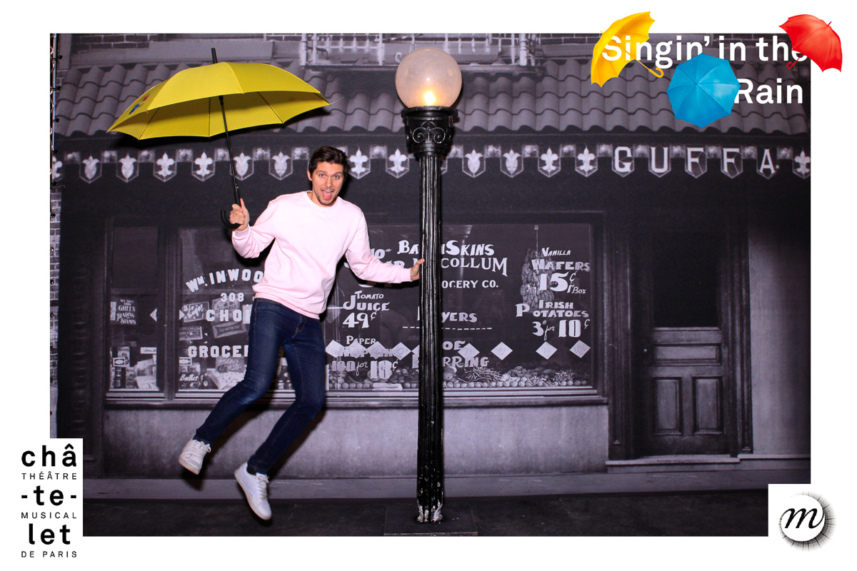 Photocall Singin' in the rain Mister Like that / événement Singin' in the rain au grand palais
